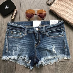 SHERRY Distressed Denim Shorts